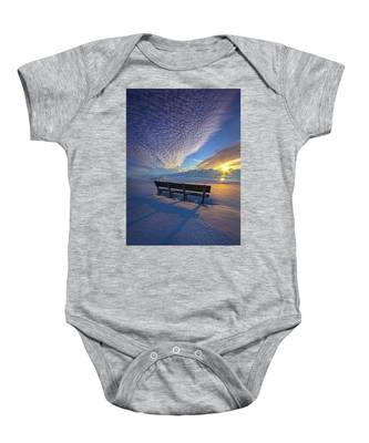 A Whole World In Front Of Us Baby Onesie