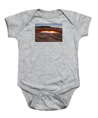 Another Sunrise At Mesa Arch Baby Onesie