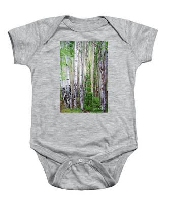 Aspen Grove In The White Mountains Baby Onesie