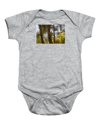 Autumn Abstract Baby Onesie
