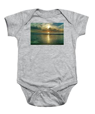 Beach Sunset Baby Onesie