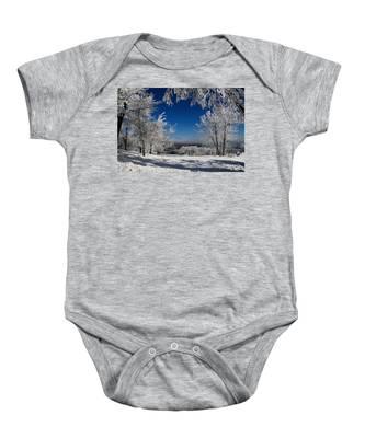 Blue Knob Baby Onesie
