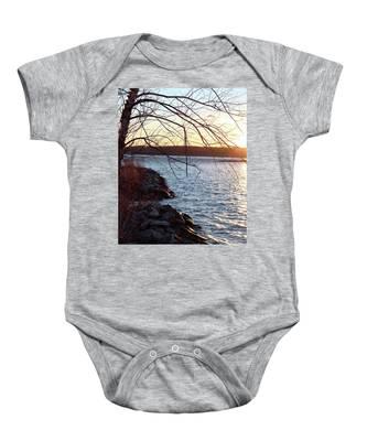 Late-summer Riverbank Baby Onesie