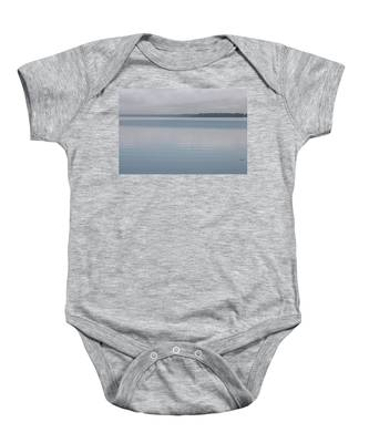 Baby Onesie featuring the photograph Calm Lake by Dart and Suze Humeston