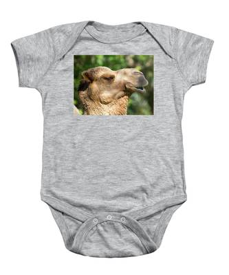 Baby Onesie featuring the photograph Camel by Dart and Suze Humeston