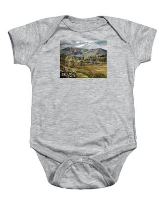 Cannon Mountain From Sugar Hill New Hampshire Baby Onesie