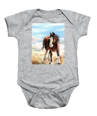 Clydesdale Foal Baby Onesie
