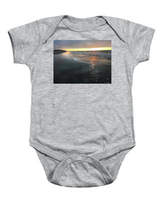 Colors Of A Storm At Sunrise Baby Onesie
