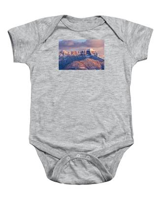 Court House Mountain Glow Baby Onesie