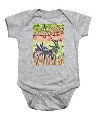 Deer In The Orchard Baby Onesie