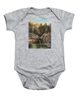 Down By The Pemigewasset River Baby Onesie