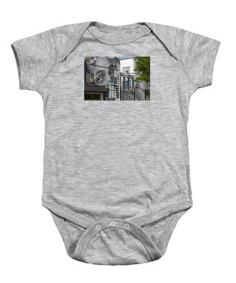 Face On House Baby Onesie by Dart and Suze Humeston