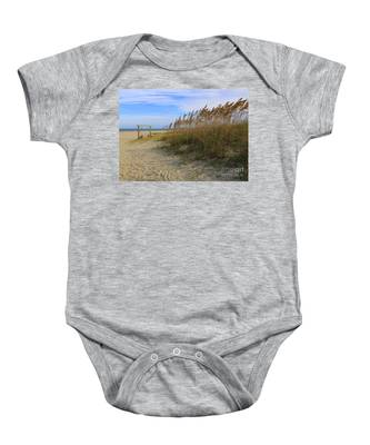 Fall Day On Tybee Island Baby Onesie