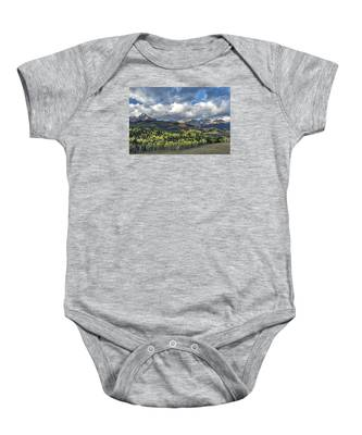 First Light On The Sneffels Range Baby Onesie