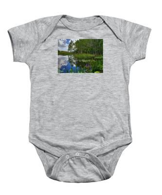 Florida Wetlands Reflections Baby Onesie