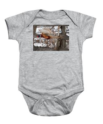 Flying Pheasant Baby Onesie