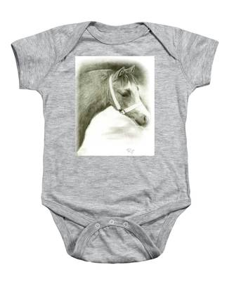 Grey Welsh Pony  Baby Onesie