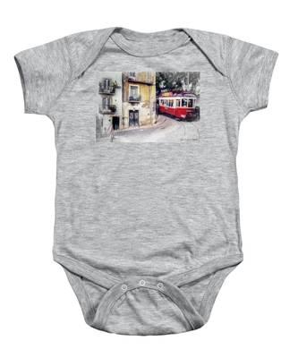 Historic Lisbon Tram Baby Onesie