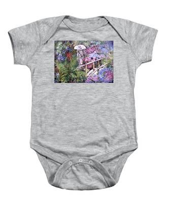 Hydrangea In The Formosa Gardens Baby Onesie