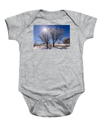 Ice Coated Trees Baby Onesie