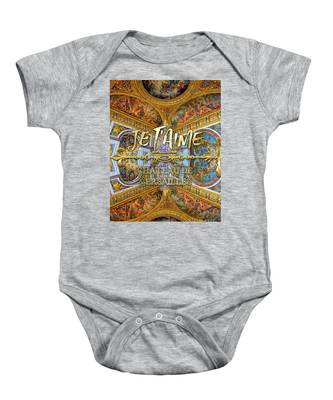 Je Taime Chateau Versailles Peace Salon Hall Of Mirrors Baby Onesie