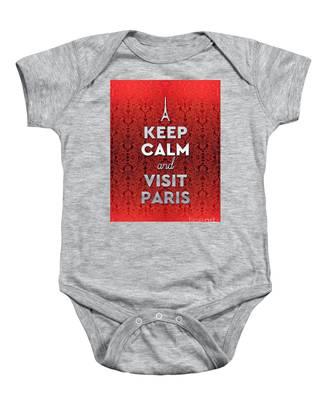 Keep Calm And Visit Paris Opera Garnier Floral Wallpaper Baby Onesie
