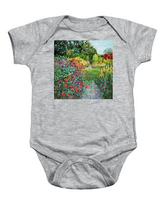 Landscape With Poppies Baby Onesie
