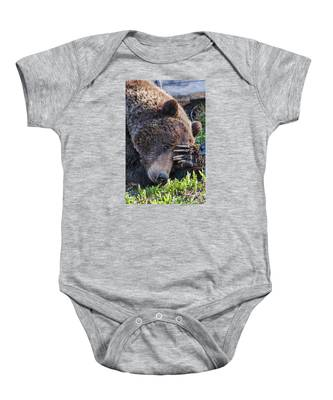 Lazy Bear Baby Onesie