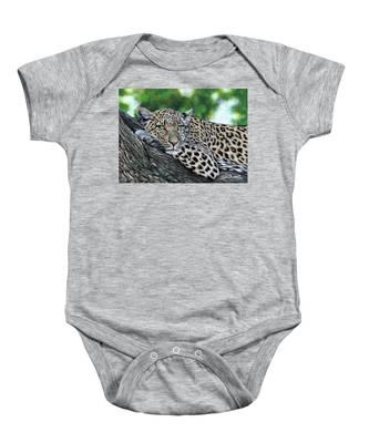 Leopard On Branch Baby Onesie