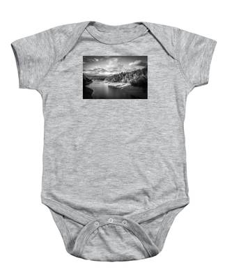 Low Sun Across The Nantahala River As The Clouds Clear Away Baby Onesie