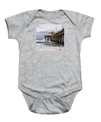 Manhattan Pier Surf Baby Onesie