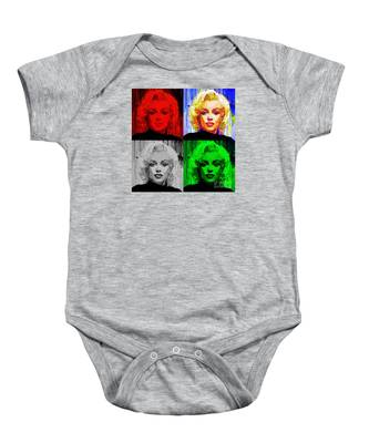Marilyn Monroe - Quad. Pop Art Baby Onesie