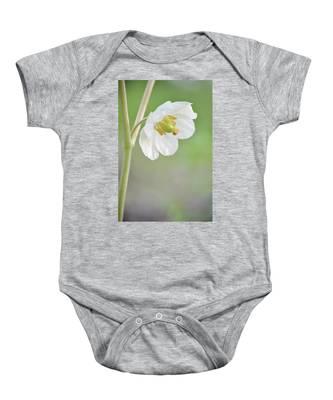 Mayapple Flower Baby Onesie