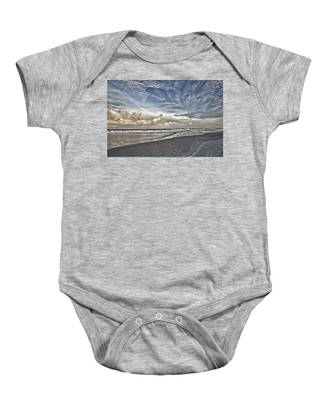 Morning Sky At The Beach Baby Onesie