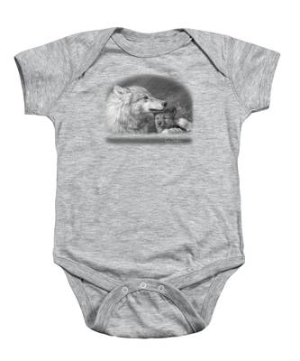 Mother's Love - Black And White Baby Onesie