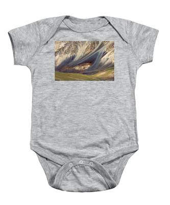 Mountain Abstract 2 Baby Onesie