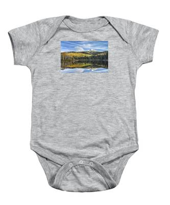 Mountain Lake Reflection Baby Onesie