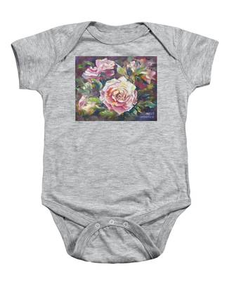 Multi-hue And Petal Rose. Baby Onesie