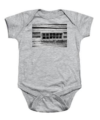 Baby Onesie featuring the photograph Old Cabin Window by Dart and Suze Humeston