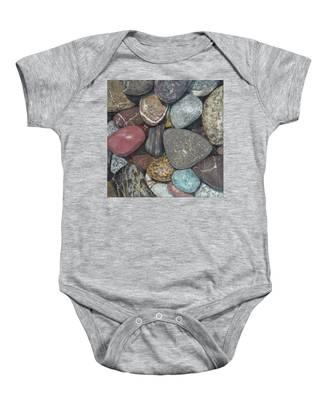 Pacific Nw Beach Rocks Baby Onesie