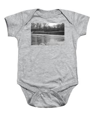 Pompton Spillway In January Baby Onesie