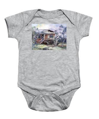 Queenslander Style House, Cloncurry. Baby Onesie