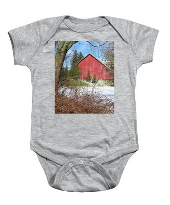 Red Barn Baby Onesie