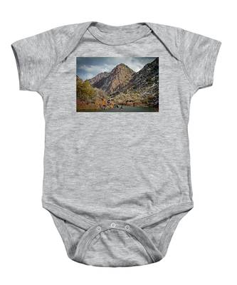 Rio Grande Racecourse In Winter Baby Onesie
