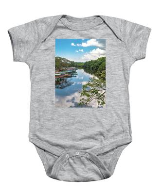River Boats Docked In Negril, Jamaica Baby Onesie