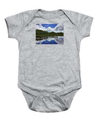 River Reflections  Baby Onesie