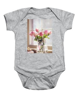 Roses In The Kitchen Baby Onesie