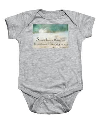 See The Light In Others Baby Onesie