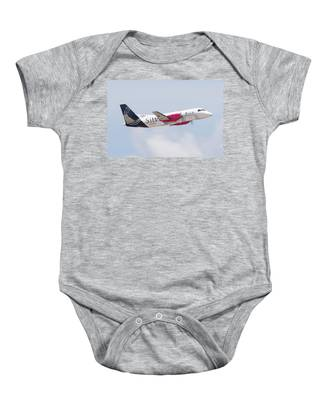 Baby Onesie featuring the photograph Silver Airways by Dart Humeston