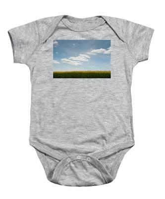 Spring Day Clouds Baby Onesie